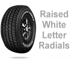 Raised White Letter Radials