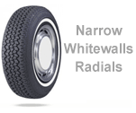 Narrow Whitewall Radial Tires