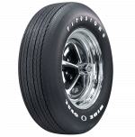 ER70-14 Firestone Wide Oval Radial Raised White Letter Tire