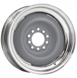 Gennie Chrome Outer/Bare Center Wheel