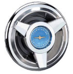 Thunderbird Wire Wheel Blue Center Spinner Cap