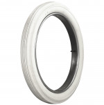 34x4 Universal Ribbed All White Tire