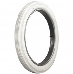 30x3 Universal Ribbed All White Tire